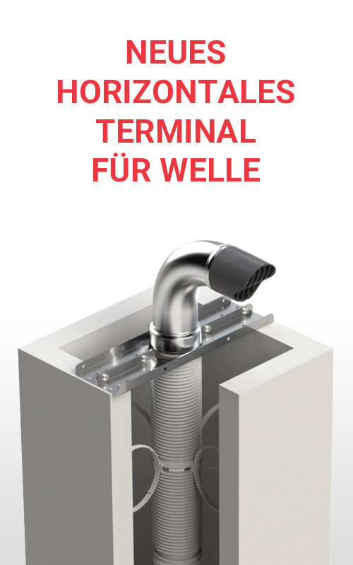 Neues horizontales Terminal für Welle